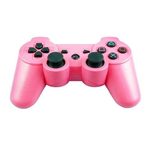 tongshi Bluetooth senza fili di vibrazione del controller Controller per Sony PS3 (Rosa)