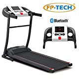 FP-TECH Tapis ROULANT Elektro 1 HP 1000 W Top Gamma mit Bluetooth ED App MP3-Player und USB