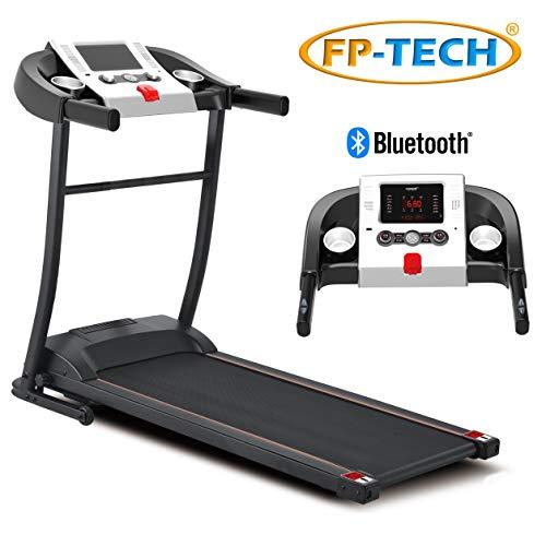 Cinta de correr eléctrica 1 CV 1000 W de gama alta con Bluetooth, aplicación, reproductor MP3 y USB