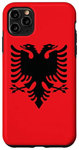 iPhone 11 Pro Max Albania Patriotic Red & Black Kuq e Zi Eagle Albanian Flag Case