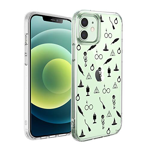 Unov Case Compatible with iPhone 12 / iPhone 12 Pro Case Clear with Design Slim Protective Soft TPU Bumper Embossed Pattern 6.1 Inch (Witchcraft Wizardry)