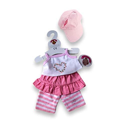Build Your Bears Wardrobe 5060322141428 T-Shirt, Weste und Leggings (rosa), Rose