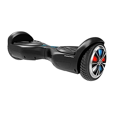 Swagtron Swagboard Twist Lithium-Free UL2272 Certified Hoverboard with Startup Balancing, Dual 250W Motors, Patented SentryShield Quantum Battery Protection (Spectrum LED Black)