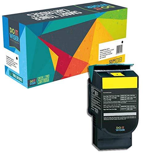 Do it wiser kompatible Toner als Ersatz für Lexmark 540H1YG C540N C543DN C544DN X543DN X544 C540 C544 C544DW C544N C546DTN X543 X544DN X544DW X544N X546DTN X548DE X548DTE C543 (Gelb)