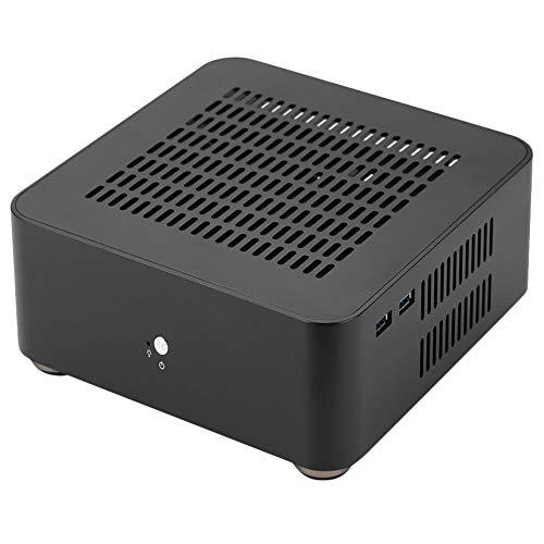 Liseng L80S - Carcasa de aluminio para ordenador (puerto USB 3.0, puerto hueco para casis de juegos y bricolaje, PC Itx Cas, color negro