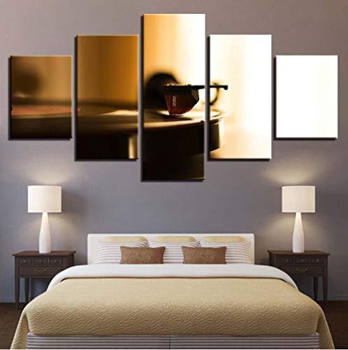 Canvas schilderij 5 stuks Home Decoration Grammofoon schilderij Modulaire muziek platenspeler Poster 30x40cm 30x60cm 30x80cm Geen frame.