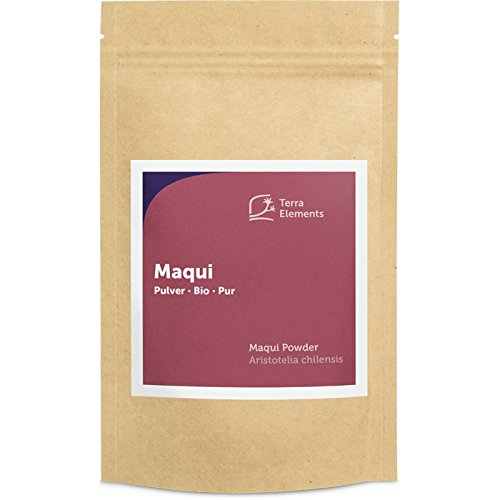 Terra Elements Bio Maqui Pulver, 100 g I Gefriergetrocknet (freeze dried) I 100% rein I Vegan I Rohkost