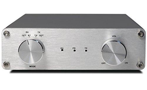 FeinTech AVS00200Audio Amplificatore casse Class D digital stereo con Bluetooth aptX 40W USB argento
