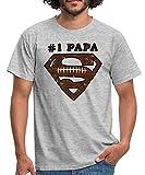 DC Comics Superman Logo Papa Rugby T-Shirt Homme, 3XL, Gris chiné