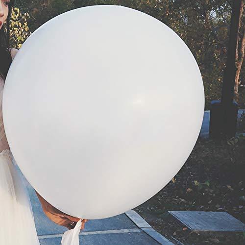 Comius Sharp Große Ballons, 10 Pcs 36 Zoll Runde Ballons, Extra große und Dicke Ballons wiederverwendbarer riesiger Latex-Ballon für Hochzeit Geburtstag Party Dekorationen Festivals (White)