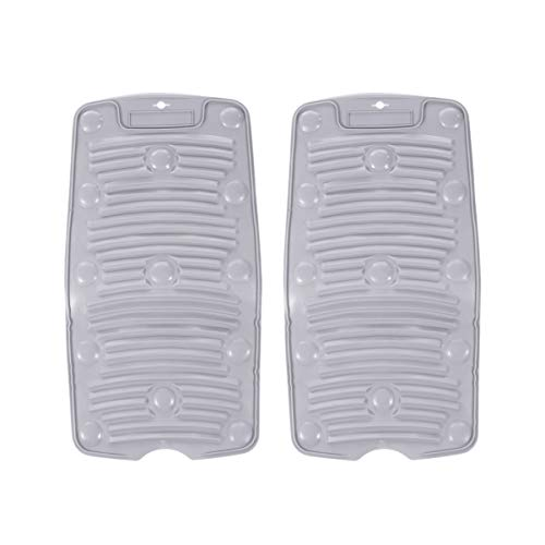 HEALLILY 2 Pzas Lavadero Pequeño Enrollable de Silicona Tabla de Lavado Portátil Antideslizante Ventosa para Viajes Aire Libre en Casa