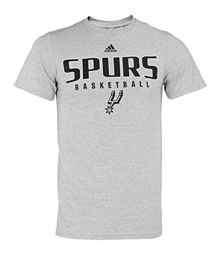 adidas NBA Men's San Antonio Spurs Short Sleeve The Go to Tee, Grey