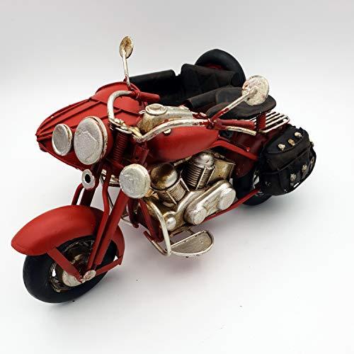 DynaSun Art Figura Moto de Época Vintage de Metal, DE colección de E