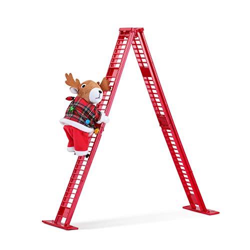 Mr. Christmas Tabletop Climber - Reindeer Christmas Décor, 17-inch, Red