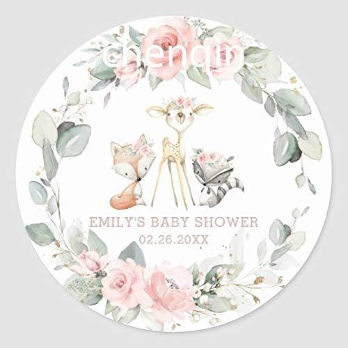 BLOUR 100 Etiquetas de Embalaje Personalizadas para Bautizo de bebé, decoración de Fiesta, revelación de género, Primera comunión, niño, niña, Bautismo