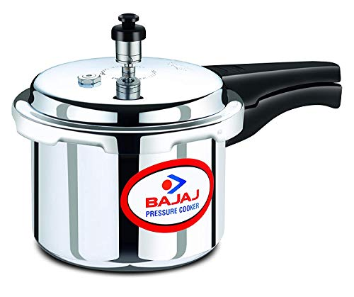 Bajaj PCX 3IB, 3 LTR Aluminium Pressure Cooker with Induction Base (Silver, ISI Certified)