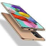 X-level Samsung Galaxy A51 Hülle, [Guardian Serie] Soft Flex Silikon Premium TPU Echtes Handygefühl Handyhülle Schutzhülle für Samsung Galaxy A51 Hülle Cover - Gold