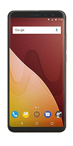 Wiko View Prime 14,47 cm (5,7 Zoll) Smartphone (16MP Kamera, 64 GB internen Speicher, 4GB RAM, Dual-SIM, Fingerprint, Android 7.1 Nougat) gold