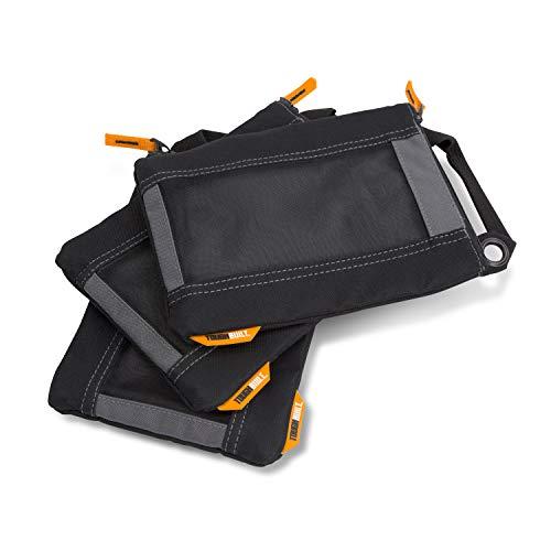 ToughBuilt - Fastener Bag - Heavy Duty Mesh Window, Hanging Grommets - (3 Pack) (TB-94-M-3)