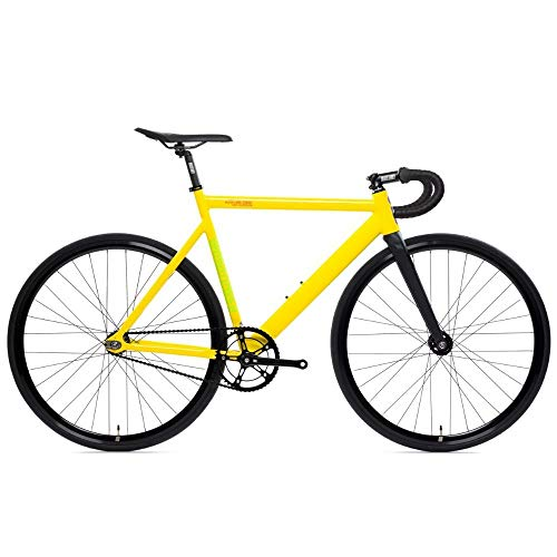 Why Should You Buy State Bicycle – 6061 Black Label – Savage Yellow – V2 Double-Butted Aluminum Fixed Gear Bicycle (55cm Drop Bar), 796201632293