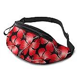 DFCC Riñonera Casual Rose Gold and Black a Fanny Pack Waist Bag For Outdoor Travel Hiking Festivel, Adjustable Belt For Men & Women