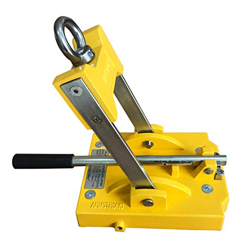 Magnetic Plate Lifter PL-660A 660 lbs Max. Lift Capacity Lifting Magnet with Safety Factor 3:1, 1,980 lbs Breakaway Force