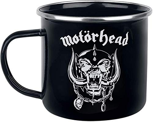 Preis am Stiel Emaille Tasse ''Motörhead'' ' | Kaffeebecher | Kaffeetasse | Kakaotasse | Bürotasse | Deko | Teetasse | Geschenkidee für Freunde | Pott | Kakaobecher | Büro | Küche | Mug