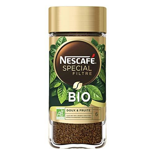Nescafé Spécial Filtre Bio - Café Soluble - Flacon de 95g - Pack de 12 Flacons