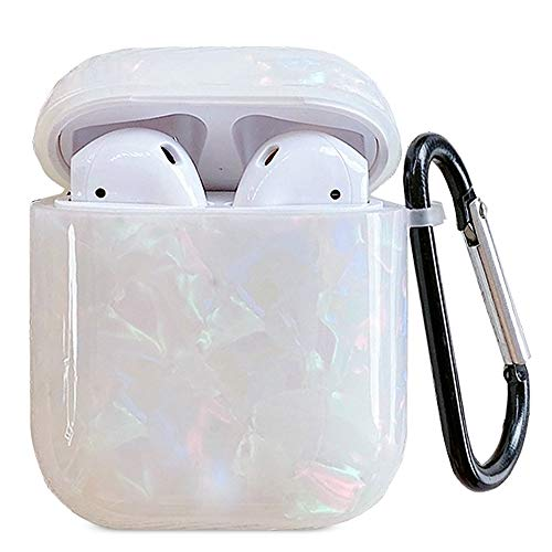 J.west 2019 Newest AirPods Case, Macaron Color Cute Sparkle Glitter Pretty Design Bling AirPods Soft TPU Protective Case Accessories Kit Compatiable with Apple AirPods 1st/2nd Charging Case Colorful