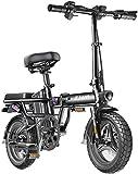 RDJM Bicicleta eléctrica Plegable Bicicleta eléctrica for los Adultos, conmutar Ebike con 400W de Motor y de Carga USB eléctrico, Ciudad de Bicicletas Velocidad máxima 25 km/h