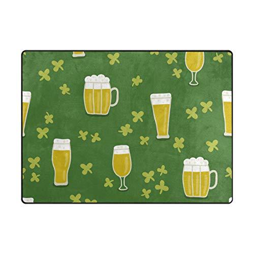 MALPLENA Motif bière Zone Tapis antidérapant Pad Moyen d'entrée Paillasson Tapis de Sol Chaussures Grattoir, Polyester, 1, 63 x 48 inch