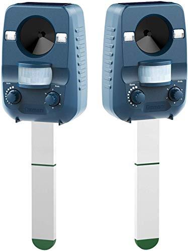 Ommani 2 x Repellente per Gatti Repellente ad Ultrasuoni dissuasore a ultrasuoni per Animali,...