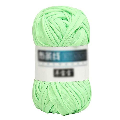 WLGQ Hilo de Lana para Tejer a Mano Hilo para Tejer Crochet y Manualidades Tejido a Mano Brazo, Fieltro, alfombras, Mantas y Manualidades (Verde Brillante)