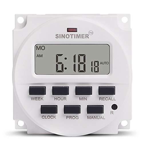 SINOTIMER 5V Weekly 7 Tage Programmierbare digitale Zeitschaltuhr Relais Timer-Steuerung Countdown Recall für Electric Appliance Abbrechen