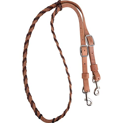 Tough 1 Royal King Deluxe Flat Roping//Contest Reins White JT International 54-910-3-0