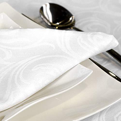 BGEUROPE - Confezione da 12 tovagliette Bianco antimacchia Resistente