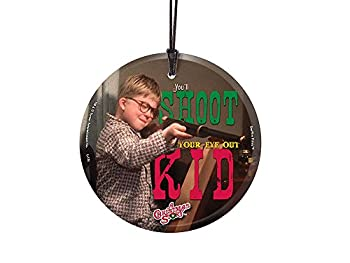Trend Setters A Christmas Story – Shoot Your Eye Out – Starfire Prints Hanging Glass - Ideal for Gifting and Collecting