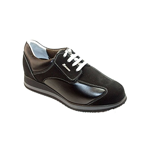 Hergos H 8101 Black Suede Shoes Nappaflex for Hallux Valgus Sufferers Comfort Black Size: 7 UK