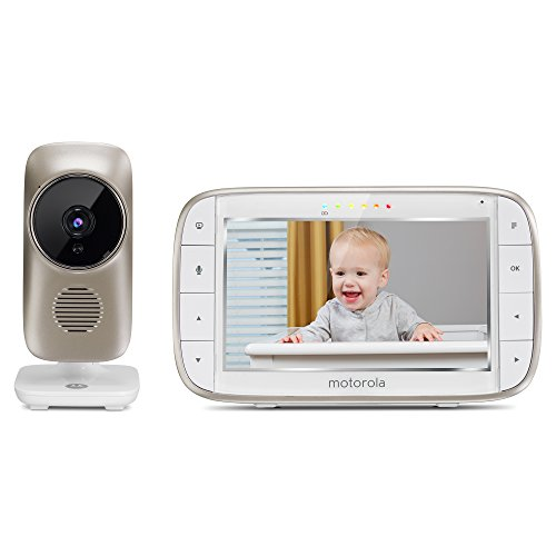 "Motorola MBP845CONNECT 5"" Video Baby Monitor with Wi-Fi Viewing, Digital Zoom, Two-Way Audio, and Room Temperature Display"