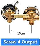 Set de ducha-2/3/4/5 vías Salida de agua Tornillo Rosca Distancia central 10cm 12.5cm Válvula mezcladora Latón Baño Ducha Mezclador Grifo Grifo Cabina-intubar 5out 12.5cm-C Sello