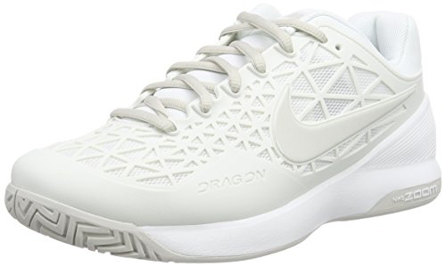 Nike Zoom Cage 2, Damen Tennisschuhe, Weiß (Summit White/Light Bone), 41 EU (7 Damen UK)