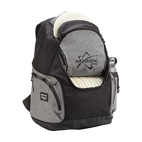 Prodigy Disc BP-3 V2 Disc Golf Backpack - Fits 17 Discs - Beginner Friendly, Affordable (Black/Heather Gray)