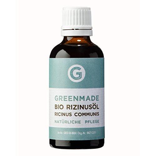 Bio Rizinusöl 50ml - 100% reines, kaltgepresstes Öl von greenmade