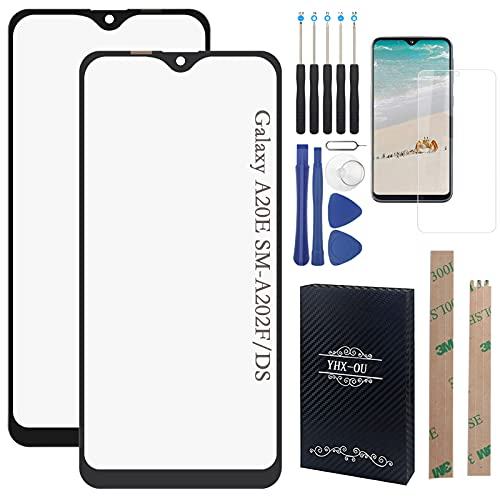 YHX-OU Pantalla táctil de repuesto de 5,80 pulgadas para Samsung Galaxy A20E SM-A202F con herramientas incluidas + 1 pieza de cristal templado (negro)