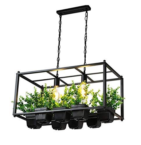 Bloempot kroonluchter plant hanglamp industriële stijl plafondverlichting persoonlijkheid restaurant bar Iron Man lamp kroonluchter,