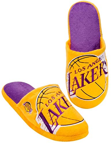 Forever Collectibles NBA Los Angeles Lakers Men's Slip On Slippers Size Small 7-8 Yellow