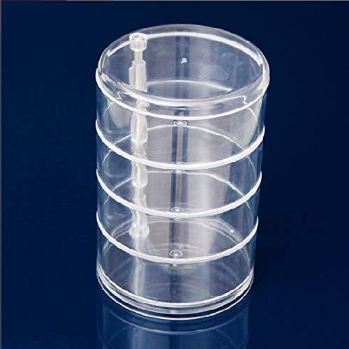 ZHAS Boîte de Rangement cosmétique 1Pcs boîte rotative Multifonctionnelle Ronde Acrylique Maquillage Organisateur De Stockage