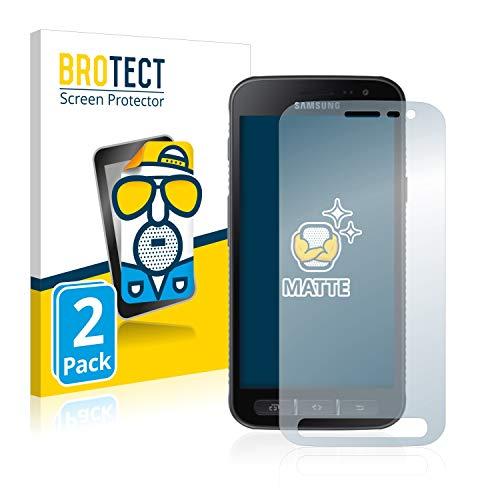 BROTECT 2X Entspiegelungs-Schutzfolie kompatibel mit Samsung Galaxy Xcover 4 / 4s Bildschirmschutz-Folie Matt, Anti-Reflex, Anti-Fingerprint