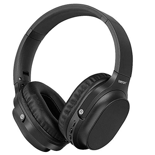 Betron AMT30 Bluetooth Headphones with Microphone, Foldable, Portable Over Ear Wireless Headphone, Powerful Bass, Noise Isolating, Compatible with iPhone, iPad, MP3 Players and Android Devices