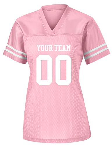 Womens Custom Football Replica Team Jersey (Small, Pink)